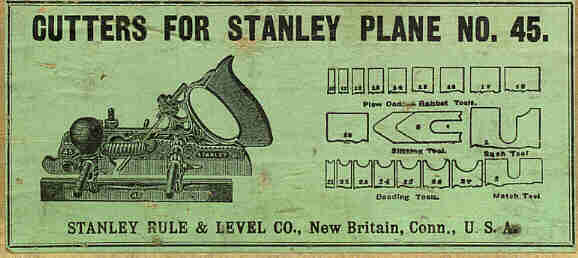 Stanley 45 plane dating